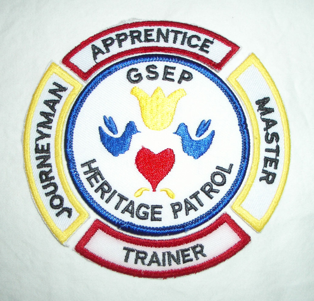 heritage patrol patch with levels around it